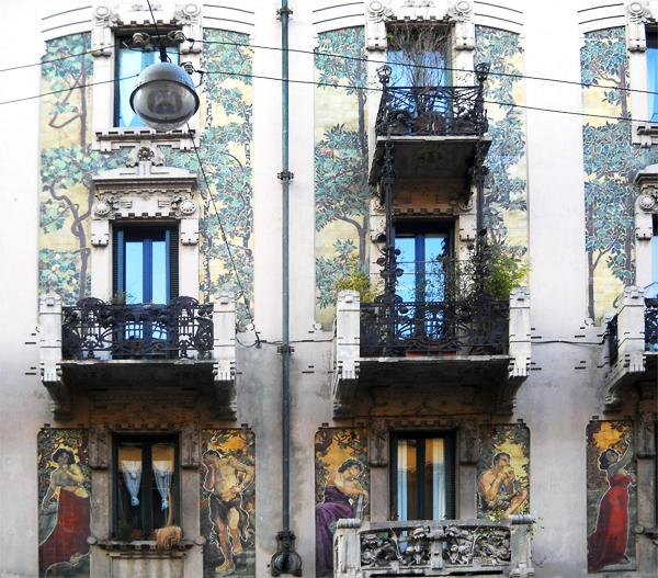 Casa Galimberti, G. Battista Bossi (1903-05)- Liberty floreale, Milano by www.designandfashionrecipes.com