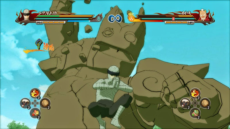 Naruto Storm Revolution Edo Kage Tsuchikage vs Onoki