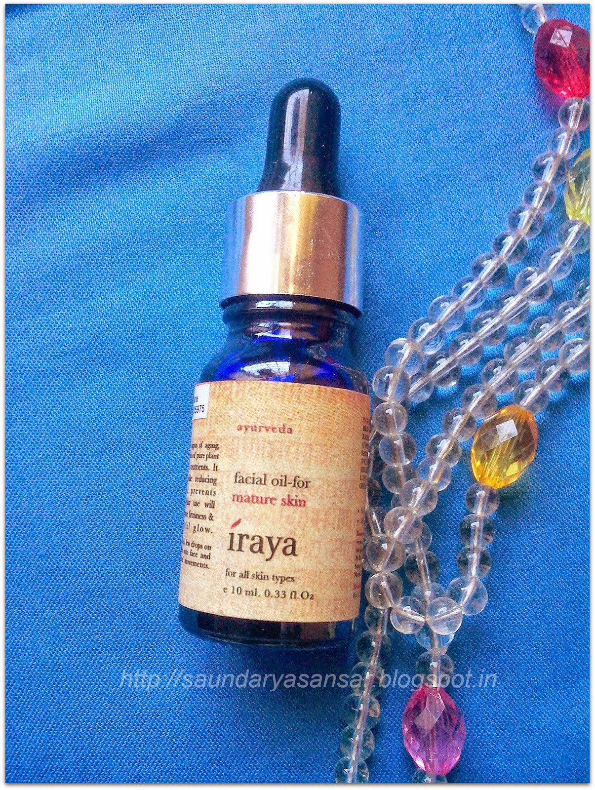 Facial Oil for Mature Skin from IRAYA-Review