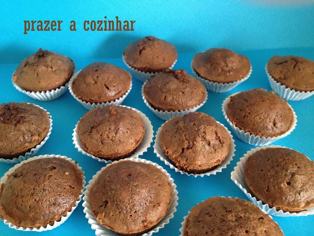 prazer a cozinhar - muffins de chocolate