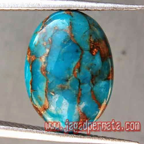 Batu Permata Pirus Persia Asli
