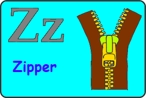 Карточка английской буквы Z