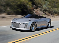 Silver Audi E-tron Spyder HD Wallpaper
