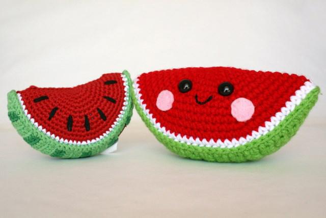 Amigurumi Watermelon : Comfort Creatures Crochet: Fruit Basket