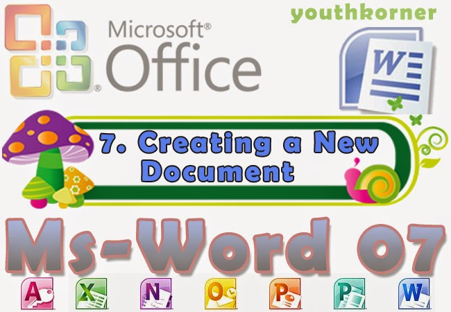 Creating a New Document in word 2007