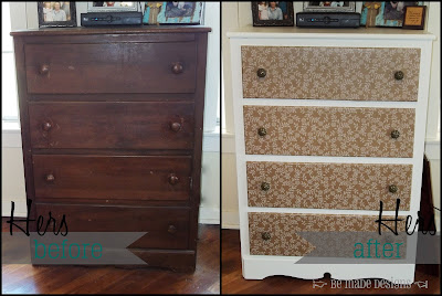 Hers Dresser Before & After {be made designs}