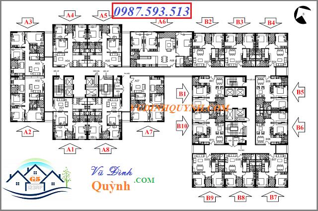 Mặt bằng tổng quan dự án 122 Vĩnh Tuy