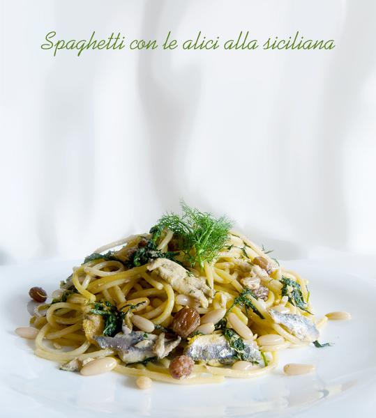 Spaghetti con le alici o sarde