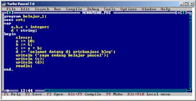 contoh program pascal