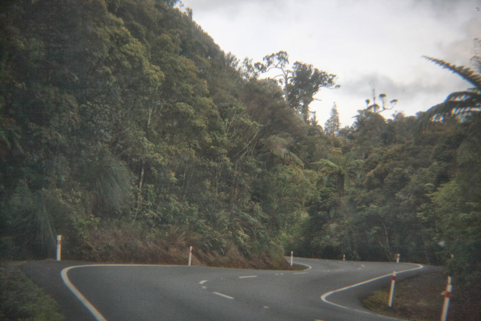 A winding New Zealand road.