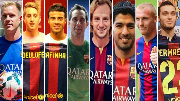 Ter Stegen, Deulofeu, Rafinha, Bravo, Rakitic, Suárez, Mathieu y Vermaelen