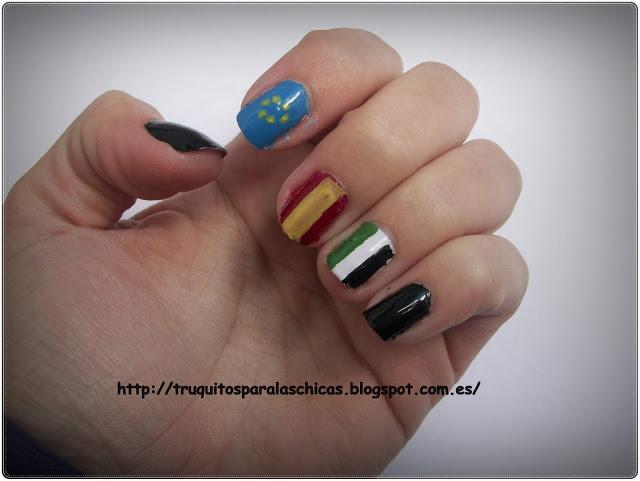 manicura bandera