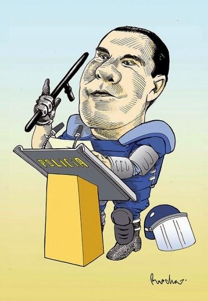 """Caricatura """"Ley Bala"""" Puebla"""