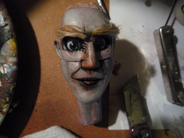 Painted head, Stopmotion Puppet © 2012 Jeff Lafferty