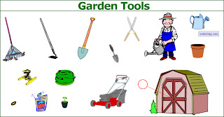 Picture dictionary garden tools english in vancouver for Gardening tools dictionary