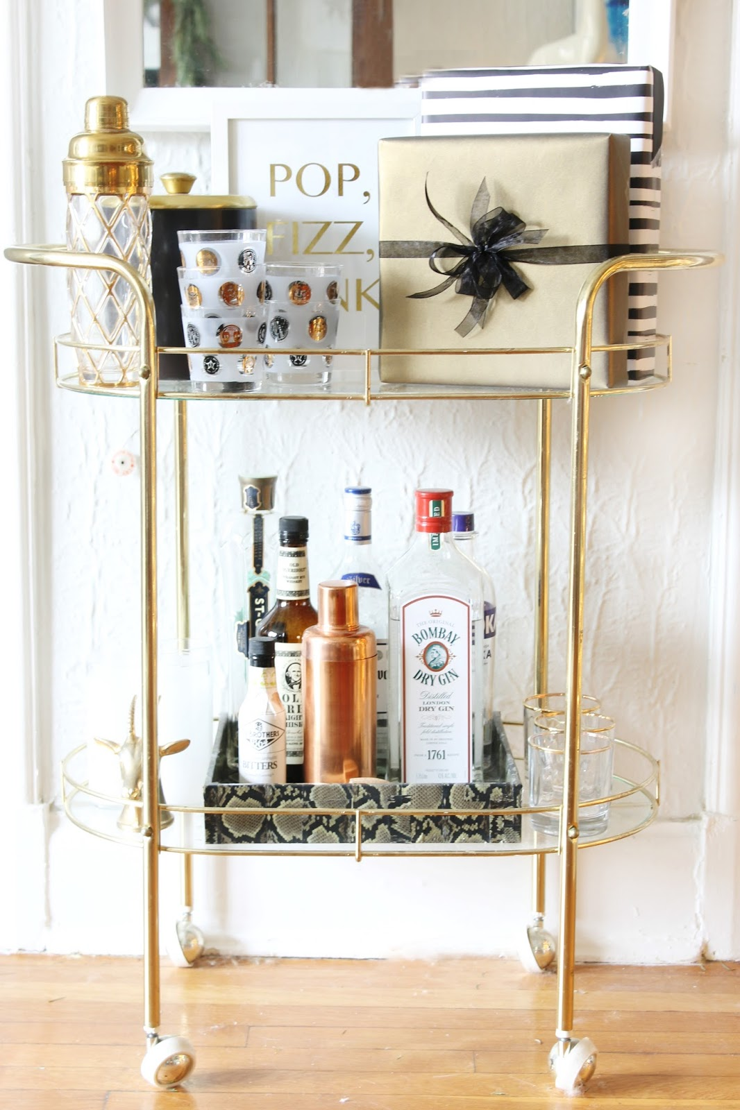 LIVING ROOM UPDATE: New Bar Cart - Shannon Claire