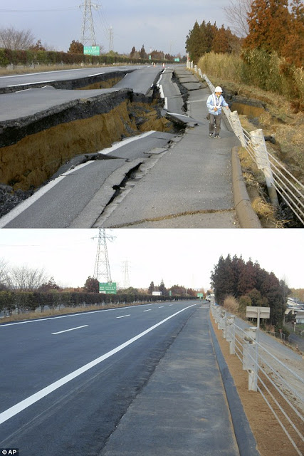 Japanese road repaired in SIX days