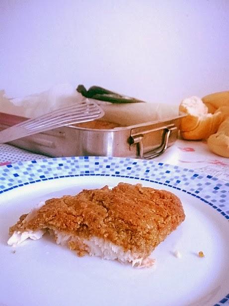 filetto di persico in crosta di noci e parmigiano