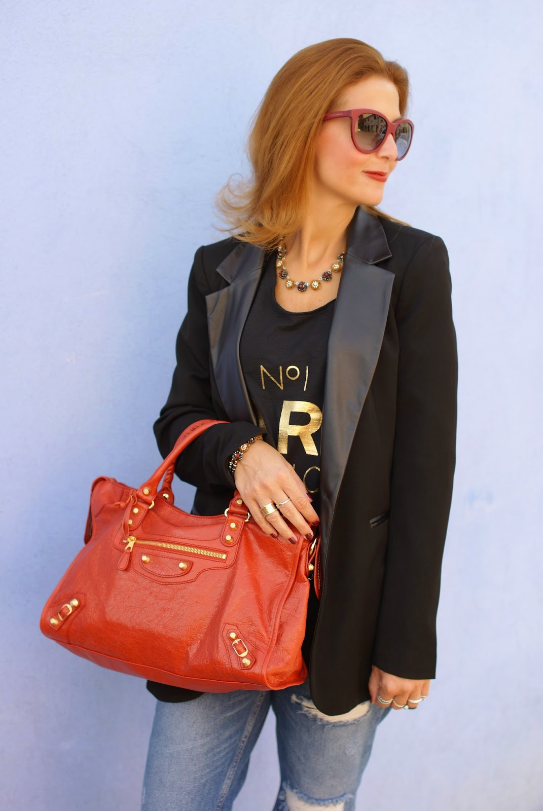 Sodini bijoux new fall winter collection, Balenciaga bag rouge ambre, Fashion and Cookies, fashion blogger