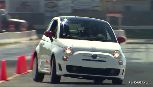 Fiat 500 Abarth Cornering