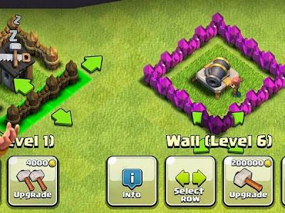 Wall Upgrade COC
