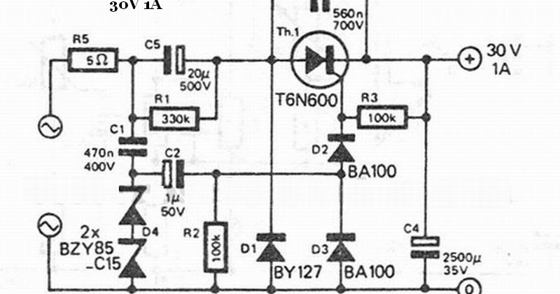 30v 1a transformerless power supply