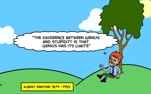 Genius Humor Cartoon