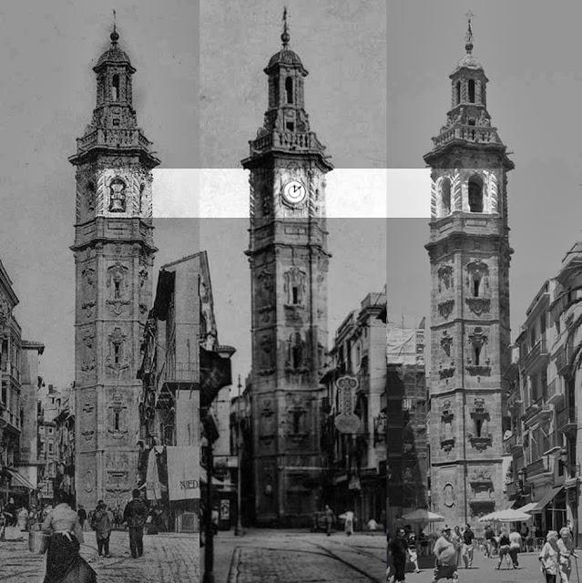 Torre Santa Catalina,Valencia, con y sin reloj