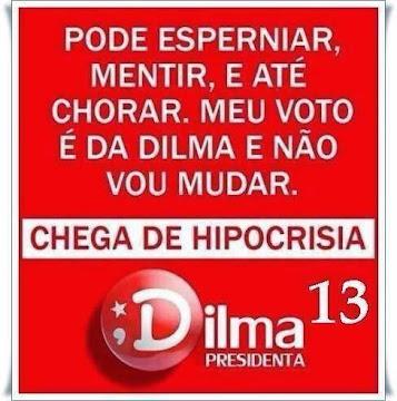 Meu voto é da Dilma e não vou mudar
