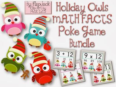 http://www.teacherspayteachers.com/Product/HOLIDAY-Owl-Poke-MATH-FACTS-Bundle-995501