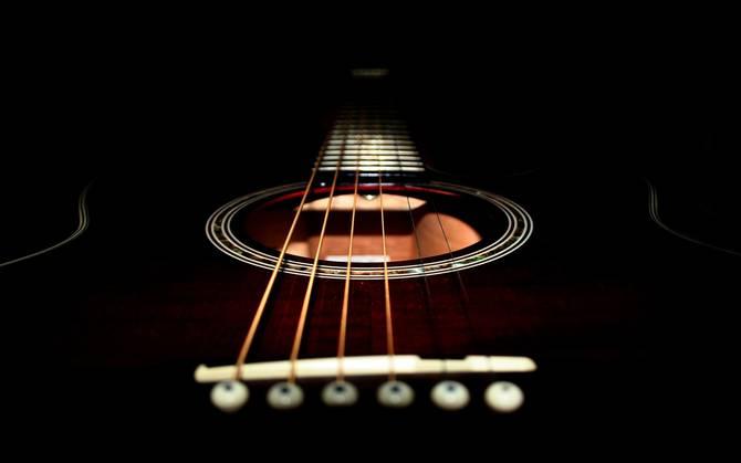black acoustic guitar wallpapers