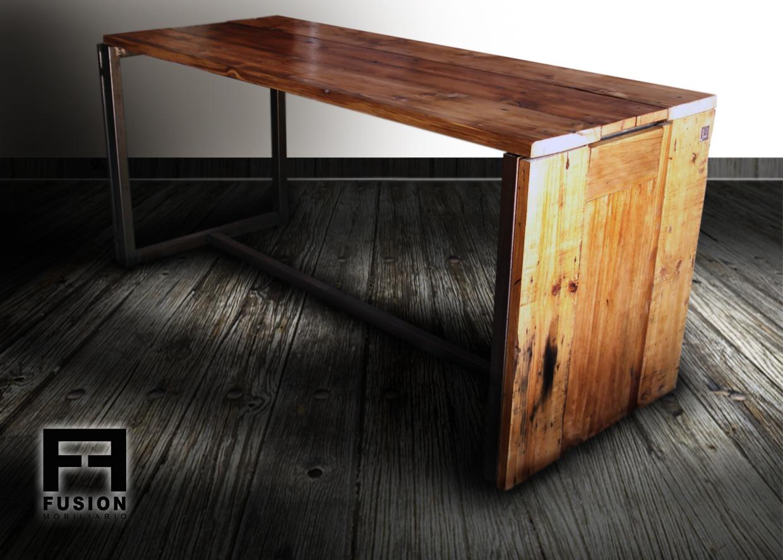 Mesa comedor de madera reciclada fusion mobiliario - Mesas madera reciclada ...