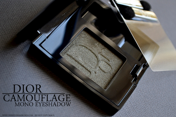 Dior Diorshow Mono Wet Dry Eyeshadow - Camouflage 477 - Photos Swatches Review FOTD
