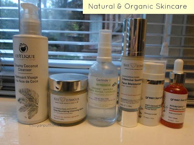 Sugarpuffish Current Natural and Organic Skincare Routine
