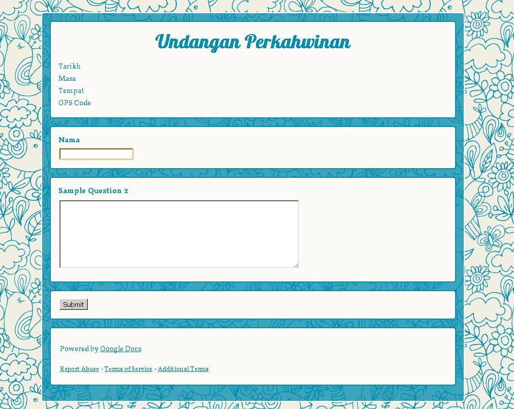Create Form Alamat Tetamu Menggunakan Google Docs | Still ...