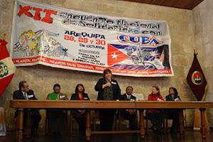 EXITOSO XII ENCUENTRO NACIONAL DE SOLIDARIDAD CON CUBA, AREQUIPA - PERÚ, OCTUBRE 2012