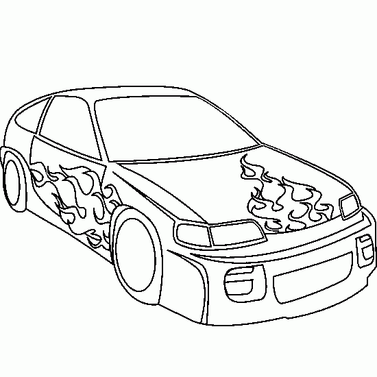 Dibujos de autos tuning para imprimir y pintar - Imagui
