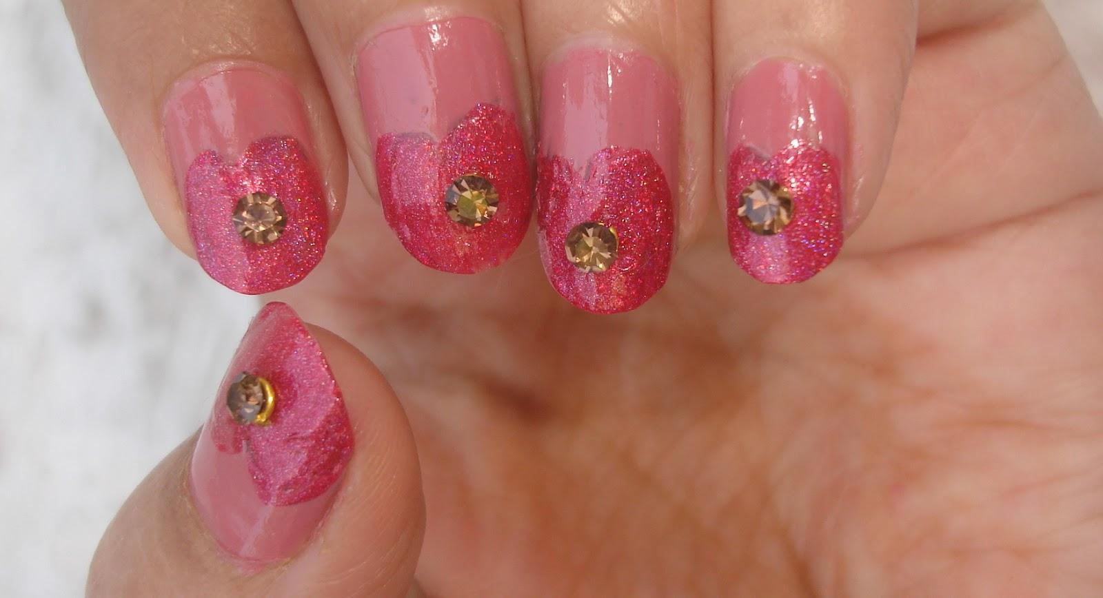 Sunday manicure- heart!