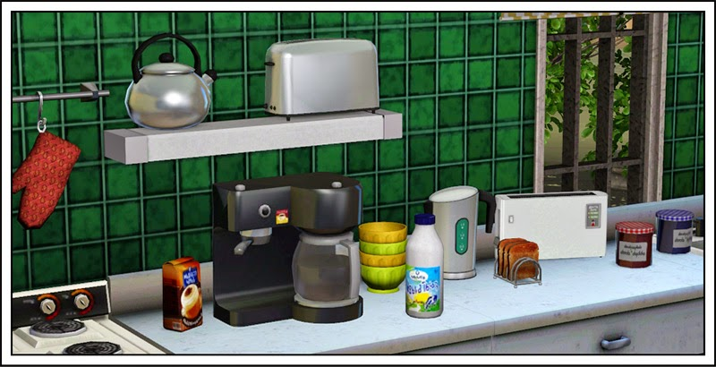 My sims 3 blog good morning kitchen appliances by sandy for Sims 3 kitchen designs