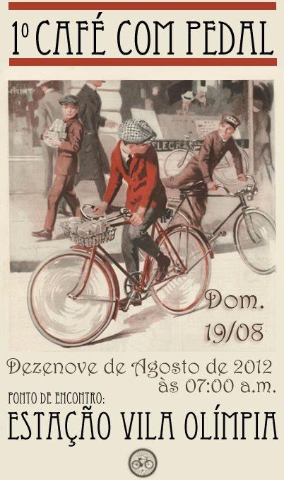 Cartaz informativo do Café com Pedal