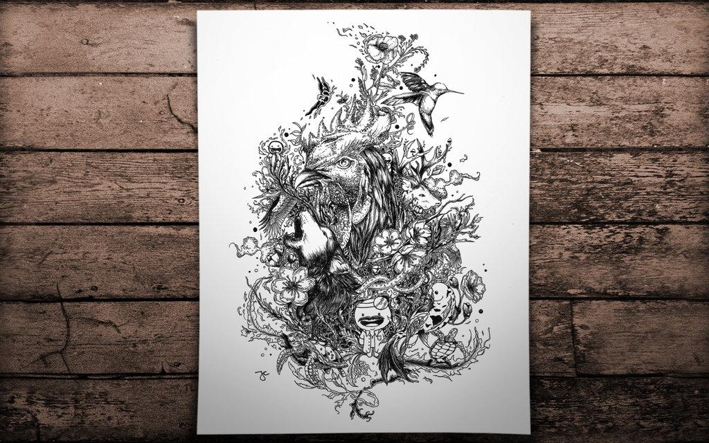 25-The-Veterinarian-Joseph-Catimbang-Pentasticarts-Metaphysical-and-Surreal-Doodle-Drawings-www-designstack-co
