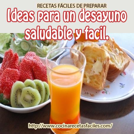Ideas para un desayuno saludable y f cil cocina recetas for Menus faciles y sanos