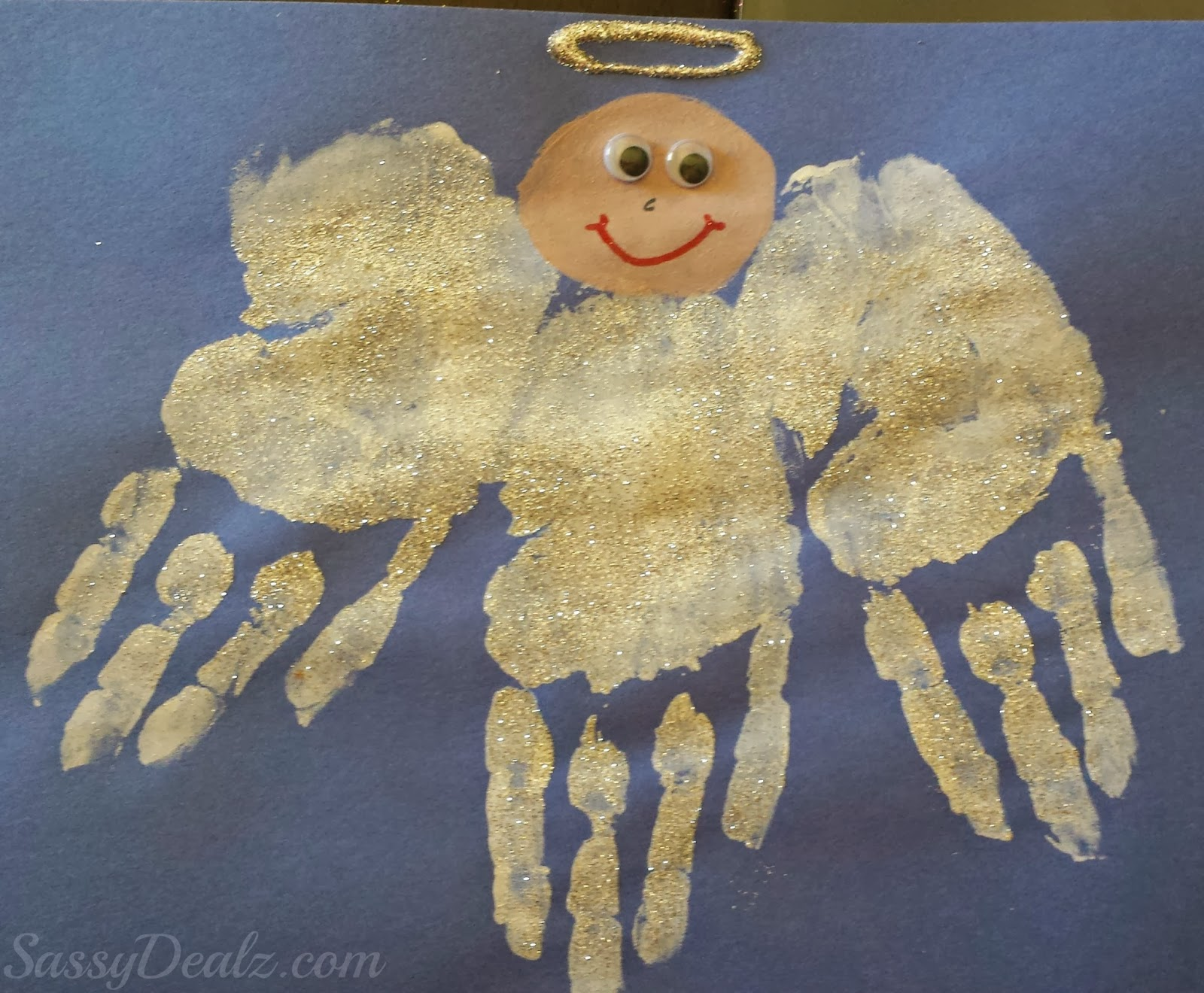 handprint angel craft for kids