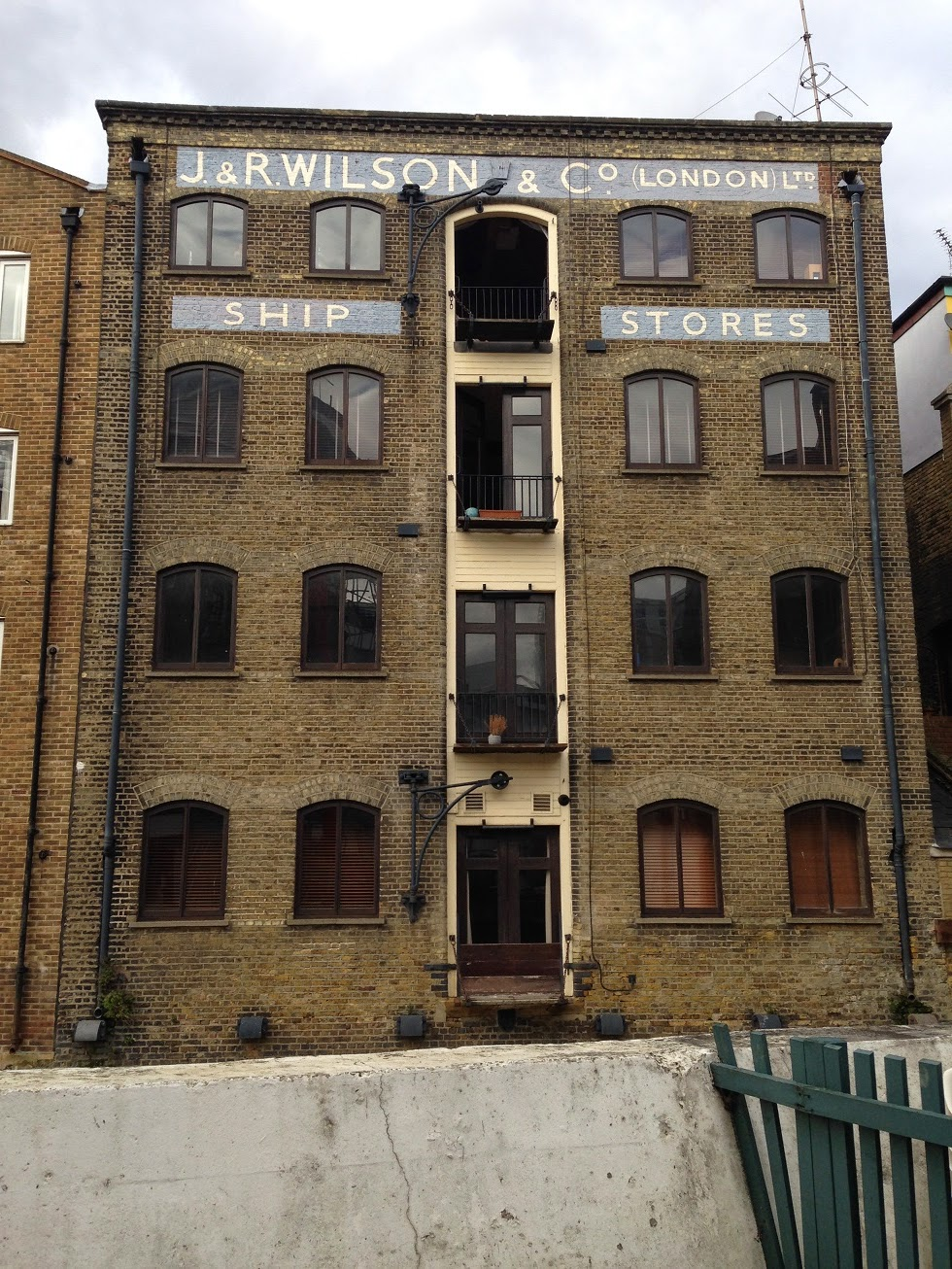 Ghost sign, Limehouse, London E14
