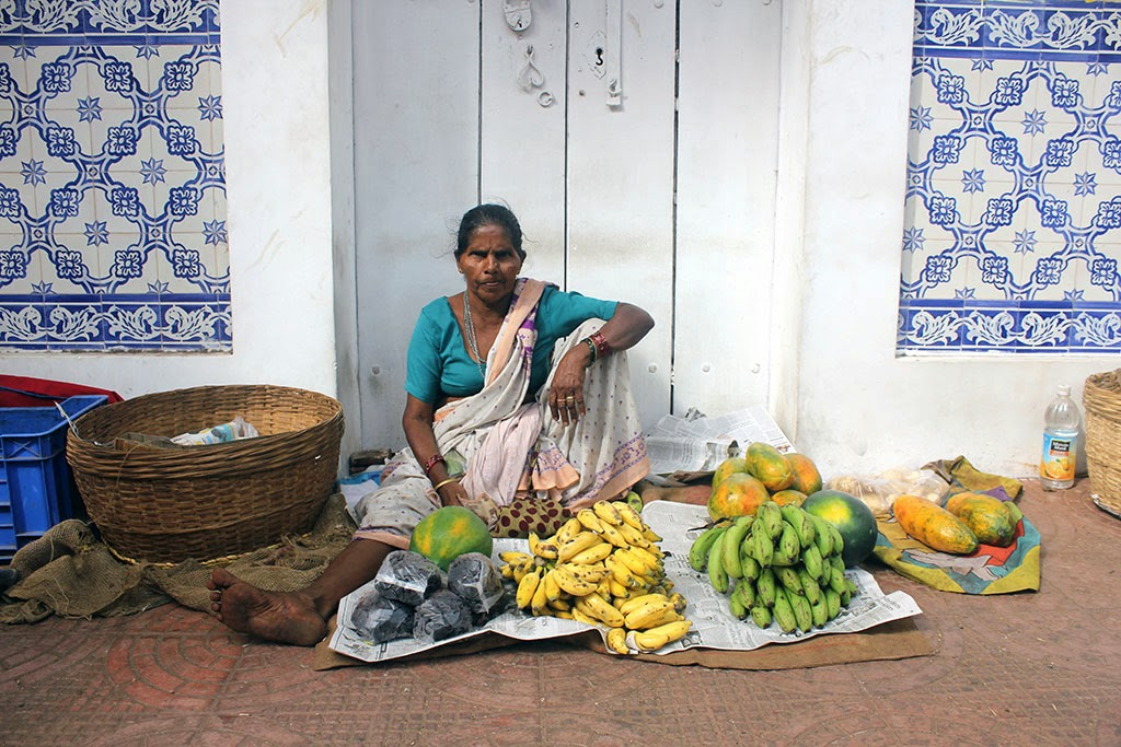 A fruit seller in Panjim, Goa