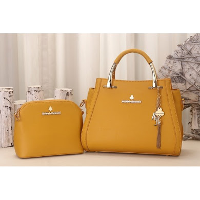 JESSICA MINKOFF BAG (2 IN 1 SET) - MUSTARD
