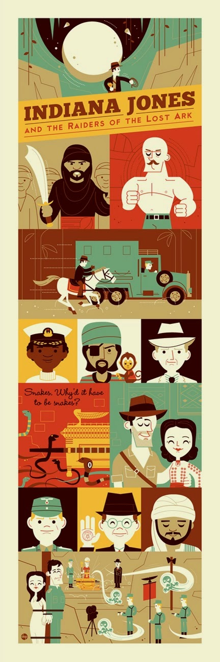 """Raiders: 1981"" Indiana Jones Screen Print by Dave Perillo"