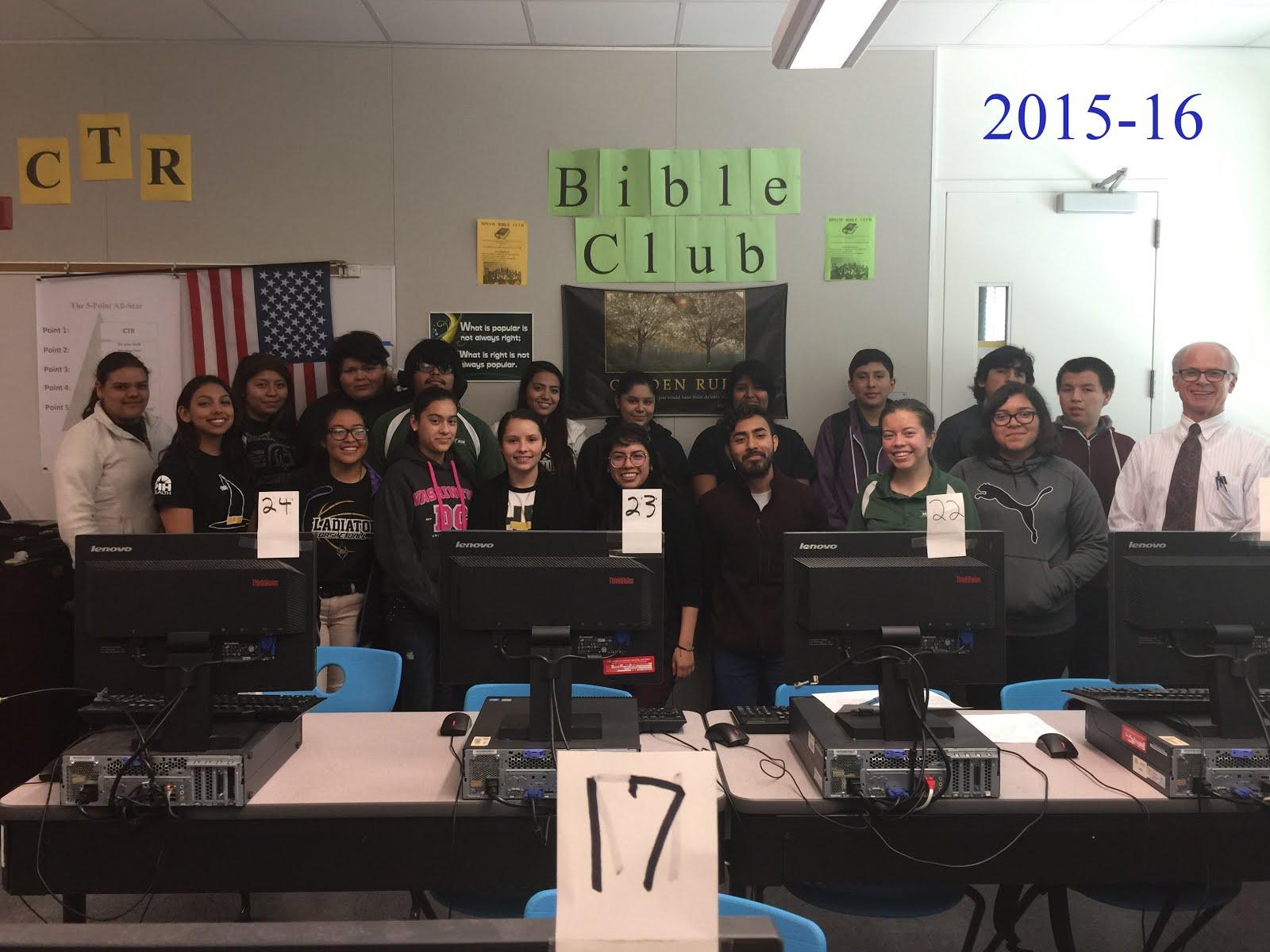Bible Club Members 2015-16