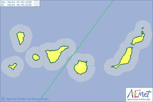 aviso alerta calima canarias 7 - 8 marzo gran canaria lanzarotre fuerteventura