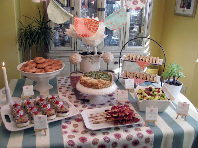 Lula baby shower brunch for Decoration quiche